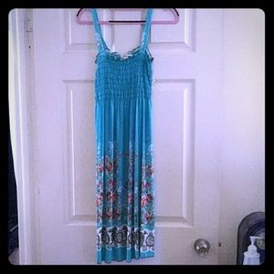 Turquoise Floral Sundress
